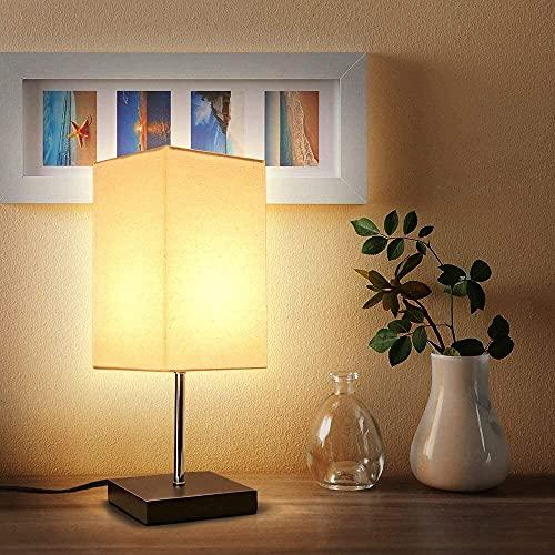 Lámpara de Mesa, Lámpara Mesita de Noche (Cuadrada)