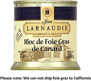 Jean Larnaudie Duck Foie Gras Bloc De Foie Gras De Canard 200g Fattened Liver