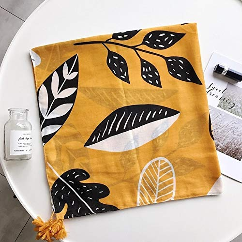 K-ONE Chal para Mujer versión Coreana versátil Viento del Desierto Graffiti Bufanda de Seda Toalla de Playa Primavera Verano algodón Bufanda de Lino de Lujo