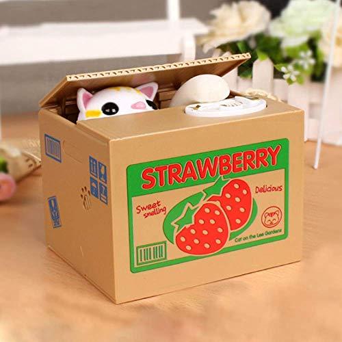 No/Brand Caja de Monedas Panda Caja de Dinero para niños Caja de Dinero automática para Ladrones de Gatos Regalo de Hucha de Monedas