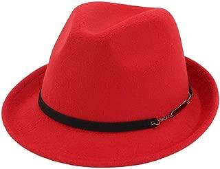 Bin Zhang Men Women Wool Fedora Hat Outdoor Casual Hat Wedding Fascinator Hat Party Hat