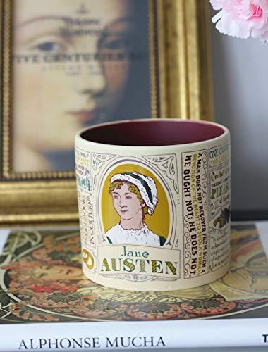 Taza De Cerámica Taza De Café De Literatura Retro Taza De Agua De Gran Capacidad Con Tapa Lugar de Jane Austen (sin regalo)