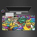 PKUOUFG Dibujos Animados patrón Creatividad Portátiles Alfombrilla de ratón (700x300x891mm) Alfombrilla de ratón para Gaming Alfombrilla de ratón para Videojuegos tamaño Grande Mejora la precisión y