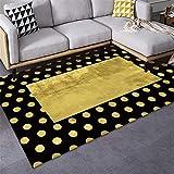 Alfombra Lavable amarillo Alfombra de salón amarillo cuadrado redondo patrón antideslizante alfombra Alfombra Dormitorio Juvenil Los 80X120CM Alfombra Entrada Casa Interior 2ft 7.5''X3ft 11.2''