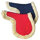 Hbao Almohadillas de Silla de Montar de Caballo Almohadilla de Doma Suave sin Pelo Equipo de Silla de Montar a Caballo Accesorios ecuestres (Color : Blue)