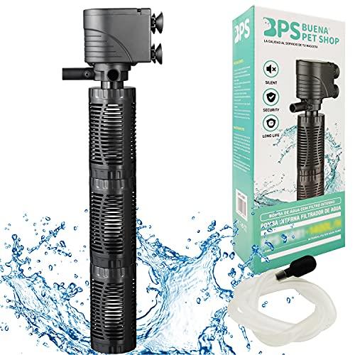 BPS Bomba Sumergible para Acuario con Filtro 30W 2000L H Bomba de Agua Filtrador Tanque para Pecera Estanque Hidropónico 42x11.5 cm BPS-6082