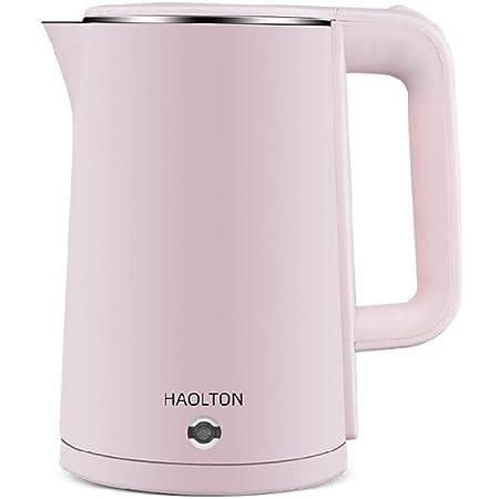Bouilloire Électrique Isolation Domestique Acier Inoxydable Anti-chaud De Grande Capacité rose