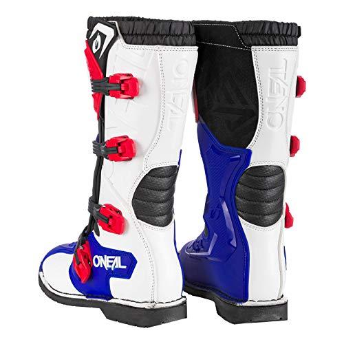 O'Neal Rider Boot MX Cross Stiefel Blau Rot Weiß Motorrad Enduro Motocross Offroad, 0329-7, Größe 44 - 4