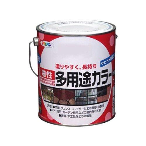 アサヒペン 油性多用途カラー 1.6L 黒