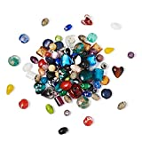 Craftdady 500g Mixed Shapes & Colors Lampwork Glass Beads Loose Beads Fit Most Major Charm Bracelets,...