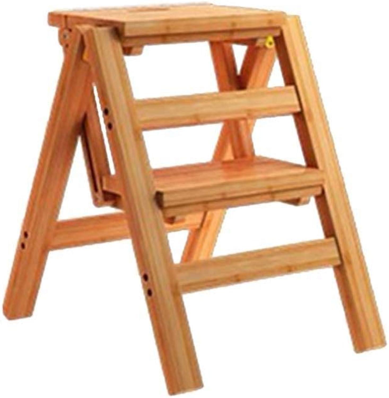 XITER Sgabelli da Bar Pieghevoli Stairs Multidivertimentozione Pedana ascendente Scaffale da scaffale Bamboo Sgabello 2 3 4 gradini (Dimensioni   2 Steps)