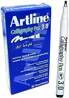 Artline Calligraphy 3.0 mm Pen - Black - Pack 12 pen