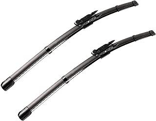2 wiper Factory for BMW 3-Series E90 E91 F30 F31 F34 F80 M3 09/2009-2017 Audi A3 2005-2013 Replacement Wiper Blade - 24