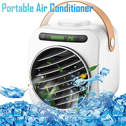 3 in 1 Mini Air Cooler, Luftkühler, Klimaanlage, Luftbefeuchter, Luftreiniger, Tragbarer Lüfter mit 3 Geschwindigkeiten und 7-Farben-Nachtlicht & USB-Aufladung, Leise und Kompakt von KUKICAT
