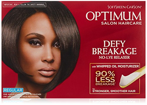 Softsheen-Carson Optimum Salon Haircare Optimum Care Defy Breakage No-Lye Relaxer, Regular Strength for Normal Hair Textures, Optimum Salon Haircare, Hair Relaxer with Coconut Oil