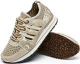 katliu Zapatillas de mujer, zapatos con cordones huecos, 21193-13, color Beige, talla 40.5 EU