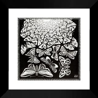 Butterflies 20x20 Framed Art Print by M.C. Escher