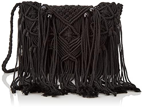 mustang Knot, Hobo para Mujer, Cotton Negro/HUACH...