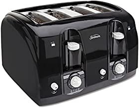 Sunbeam 39111 Extra Wide Slot Toaster, 4-Slice, 11 3/4 x 13 3/8 x 8 1/4, Black