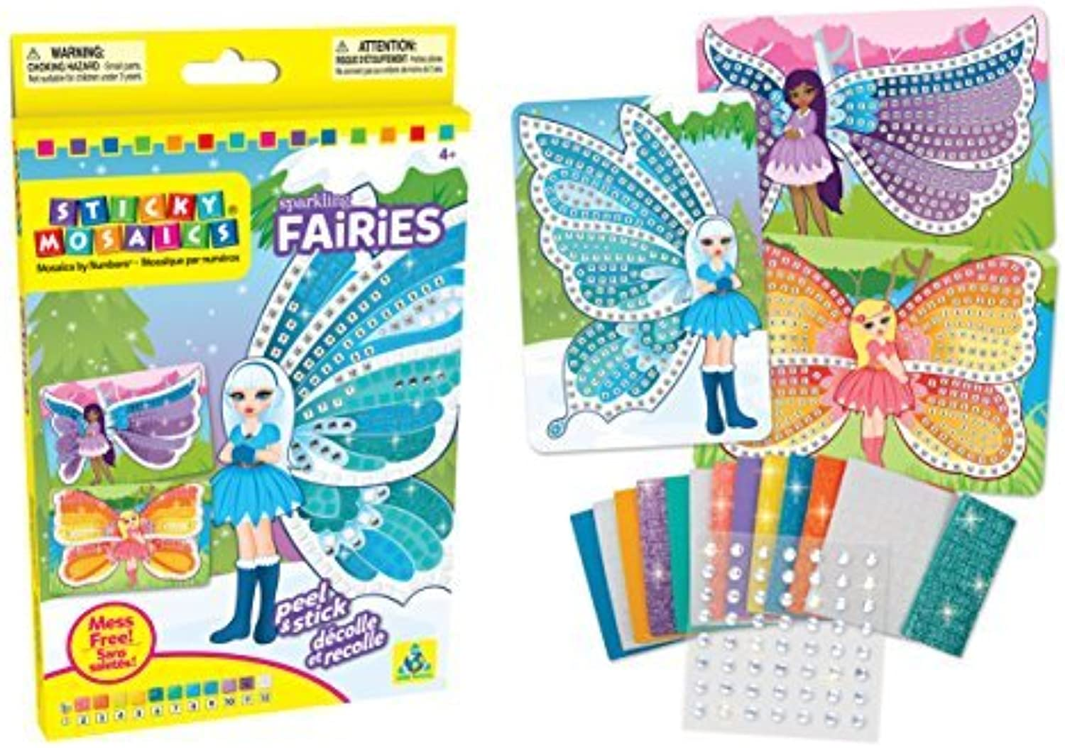 The Orb Factory Sticky Mosaics Sparkling Fairies Kit by The Orb Factory