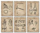 Firefighter Patent Print Set of 6 (8'x10') -...