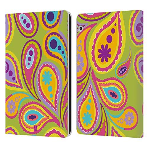 Head Case Designs Kiwi Paisley Muster Leder Brieftaschen Huelle kompatibel mit Huawei MediaPad T3 10