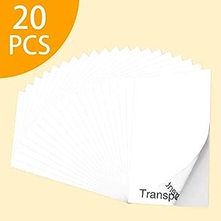 Printable Vinyl for Inkjet Printer,20 Sheets 8.3