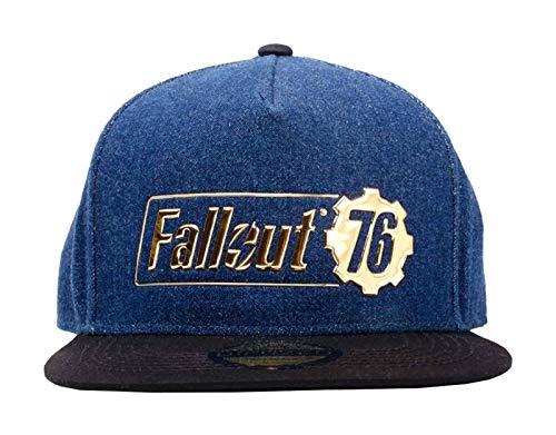 Fallout Vault 76 Baseball Cap Fallout Logo Badge Nue offiziell Blau Snapback