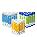 Express Water – 3 Year Reverse Osmosis System Replacement Filter Set – 30 Filters, Carbon GAC, ACB, Sediment SED Filters – 10 inch Size Water Filters