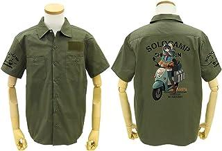 ゆるキャン△ 志摩リンとスクーター フルカラーワークシャツ/MOSS-M