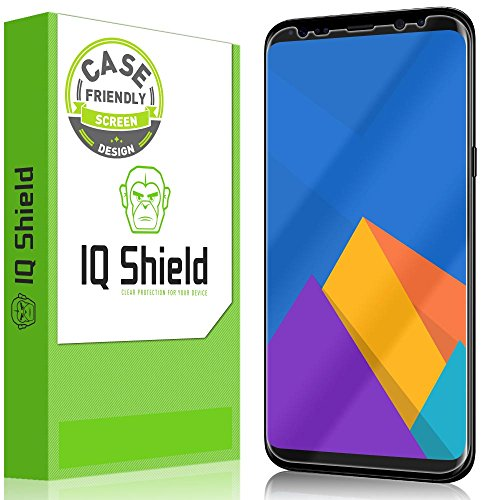 IQ Shield Screen Protector Compatible with Samsung Galaxy S8 Plus (Case Friendly)(Not Glass) LiquidSkin Anti-Bubble Clear Film