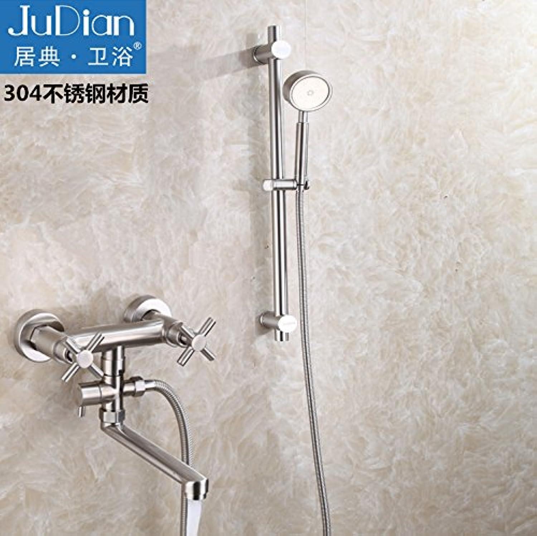 ETERNAL QUALITY Badezimmer Waschbecken Wasserhahn Messing Hahn Waschraum Mischer Mischbatterie Tippen Sie auf 2 Die Badewanne 304 Edelstahl Wasserdruck in der Dusche in d