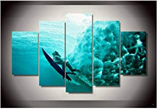 Jwqing Hd Printed Picture -Surfing Sexy Girl -Poster Painting Canvas Print Bedroom Home Decor(40x60cmx2,40x80cmx2,40x100cm No Frame)