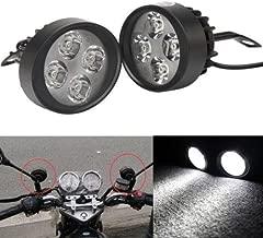 BADASS SHARKS 2X 15W Universal Motorcycle Scooter 4 LED Driving Fog Spot Light Headlight Lamp