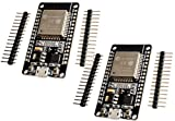 TECNOIOT 2pcs ESP32 Development Board WiFi+Bluetooth Dual Cores ESP-32 ESP-32S Ultra-Low Power