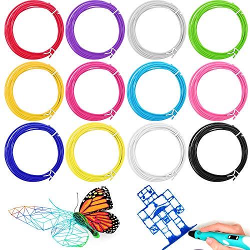 Filamento de 3D, YLX 12 Colores 1.75 mm Pluma PLA para impresora 3D