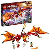 LEGO 71753 NINJAGO Kais Feuerdrache Drachen Spielzeug ab 8 Jahre, Set mit 4 Ninja Mini Figuren