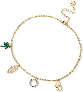 CXQ Elegant and Simple Holiday Anklet Female Sexy Temperament Coconut Tree Ankle Foot Chain Ankle Jewelry
