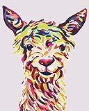 Pintar por Numeros Oveja animal para Adultos DIY Pintura al óleo Kit con Pinceles y Pinturas para Niños Seniors Junior -Sin Marco - 16x20 Inch -HYS172