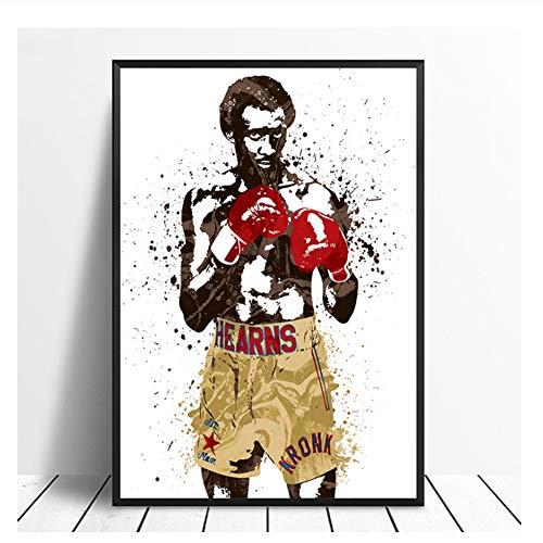 Thomas Hitman Hearns Boxing Star Sports Canvas Poster Wall Art Print Kids Decor Home Decor Wall Decor Canvas painting-60x80cm No Frame