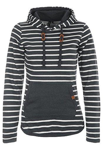 BlendShe Carina Damen Hoodie Kapuzenpullover Pullover Mit Kapuze, Größe:M, Farbe:Charcoal (70818)