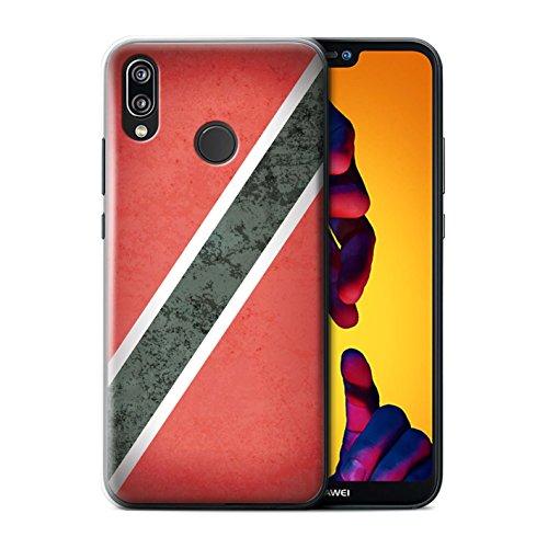 Stuff4 beschermhoes/cover/case/behuizing/kassa, bedrukt, motief Amerika vlag voor Huawei P20 Lite - Trinidad en Tobago