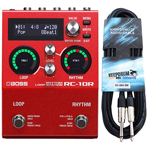 Boss RC-10R Rhythm Loop Station Performance Looper + keepdrum Klinkenkabel 3m