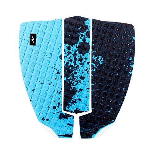 Zap Skimboards Spark Traction Tail Pad für Skimboards (Aqua Splat) – 3-teiliges Set – Super Sticky 3M Kleber mit Rauten-Rillenmuster und infundierten Noppen