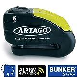 Artago 30X10 Candado antirrobo Moto Disco Alarma 120 db Warning pre-Alerta Alta Gama...