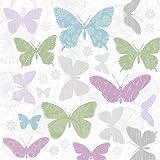 Servietten Frühling 20Servilletas Ornamentales liche Mariposas/Animales/de Animales/Primavera 33x 33cm