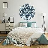 Mandala Etiqueta de la pared Meditación Tatuajes de pared Esferas Decoración Vinilos extraíbles Yoga Arte de la pared Boho Dormitorio Decoración Muals 57x59cm