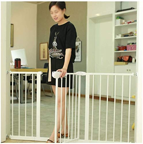 Lanrui Guardrail Garden Door Stairs Fence Pressure Fit Safety Metal Gate Stands 100cm tall The width can be selected from 65 to 173cm Pet Gate baby gate with Extensions Available