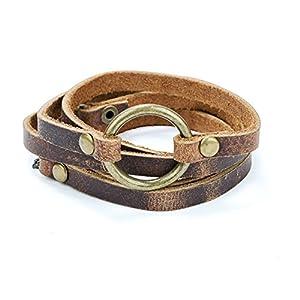 SPUNKYsoul 5 Wrap Leather Circle Bracelet 6
