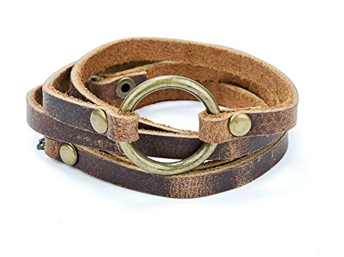 SPUNKYsoul 5 Wrap Leather Circle Bracelet 1